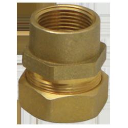 "ФитингKOFULSO труба-внутренняя резьба модели BIC15, BIC20 и BIC25 Размеры: 15 мм (1/2""), 20 мм (3/4""), 25 мм (1"") Материал: Латунь UNS C37700 (ASTM DS-561) Тип: Соединитель ""труба-внутренняя резьба"""
