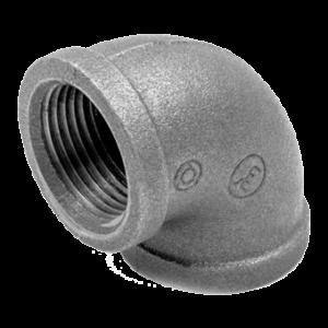 Угольник чугунный проходной резьбовой оцинкованный ВР ГОСТ 8946-75